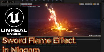 Sword Flame Effect | Unreal Engine Niagara Tutorial