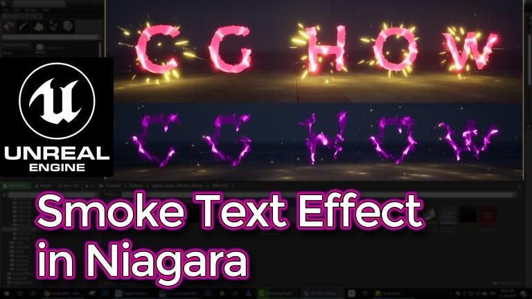 Smoke Text Effect in Unreal Engine Niagara Tutorial