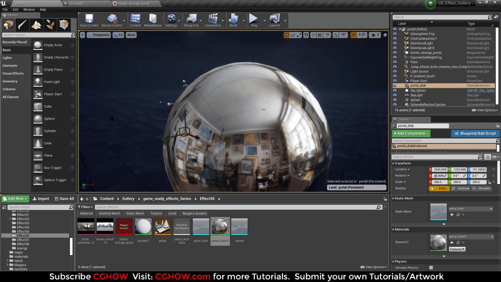 Doctor Strange Portal Effect in Unreal Engine Niagara Tutorial