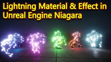 Unreal Engine Niagara Tutorial | Lightning Material & Effect