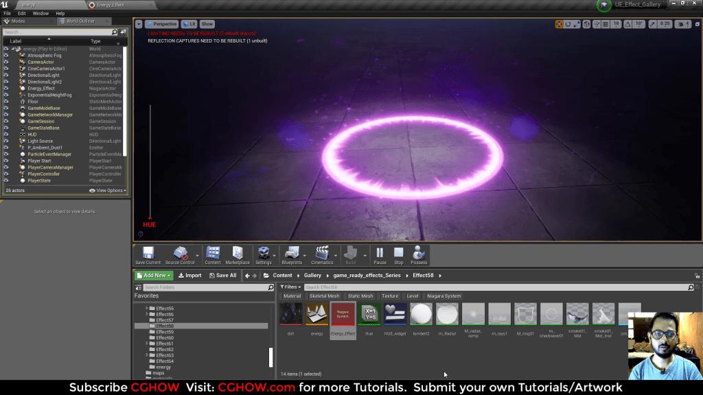 Unreal Engine Niagara Tutorials  Magical Energy Effect