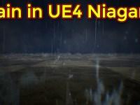 Rain Effect | Unreal Engine Niagara Tutorial | Houdini Splash VAT to UE4