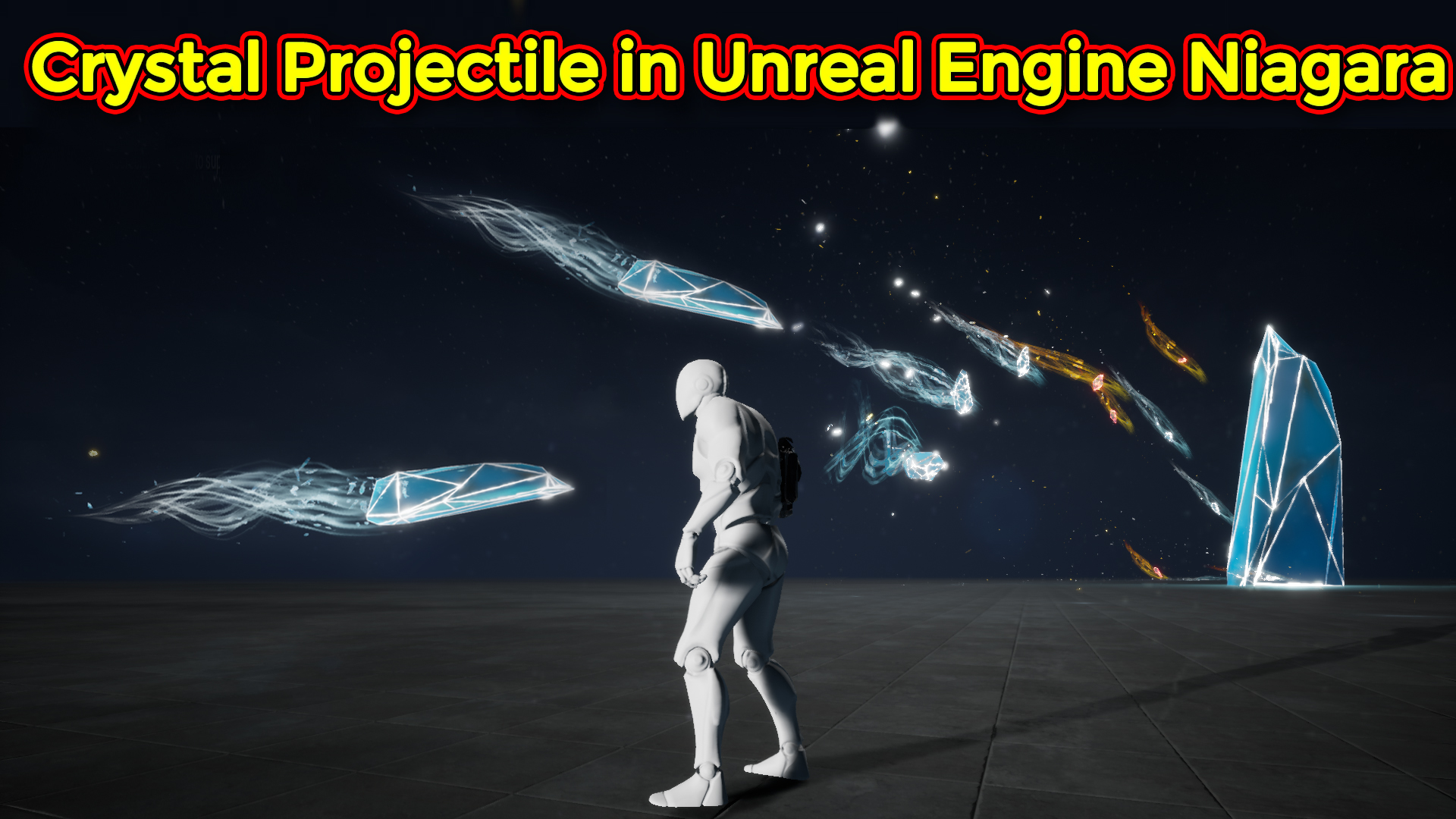 Criytal Projectile Effect | Unreal Engine Niagara Tutorial