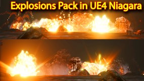 Explosions Package in Unreal Engine Niagara Particle System