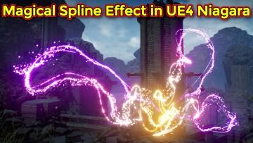 Magical Spline Effect   Unreal Engine Niagara Tutorial