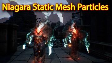 Niagara Static Mesh Particles | Unreal Engine Niagara Tutorial