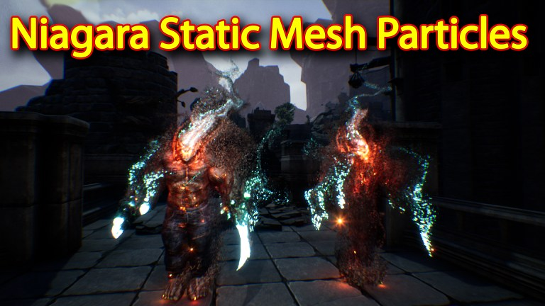 Niagara Static Mesh Particles | Unreal Engine Niagara Tutorial