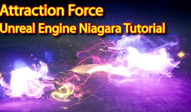 Unreal Engine Niagara Tutorial   Attraction Force