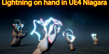 Lightning on Hand Effect | Unreal Engine Niagara Tutorial | UE4 Niagara Lightning