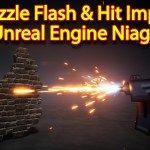 Toon Muzzle Flash and Bullet Hit Impact | Unreal Engine Niagara Tutorial | UE4 Niagara Muzzle