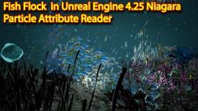 Fish Flock | Unreal engine 4.25 Niagara tutorial | UE4 Niagara Particle Attribute Reader