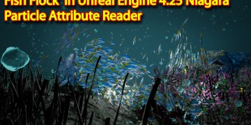 Fish Flock | Unreal engine 4.25 Niagara tutorial | UE4 Niagara Particle Attribute Reader