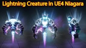 Lightning Creature Effect | Unreal Engine Niagara Tutorial | UE4 Niagara Lightning