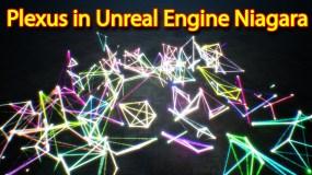Plexus effect with Particle Attribute Reader | Unreal Engine Niagara Tutorials | UE4 Niagara Plexus