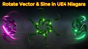 Rotate Vector & Sine |Unreal Engine Niagara Tutorials | UE4 Niagara Rotate Vector and Sine