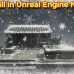 Snowfall Scene | Unreal Engine Niagara Tutorials | UE4 Niagara Snowfall