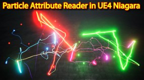 Particle Attribute Reader | Unreal Engine Niagara Tutorials | UE4 Niagara Particle Attribute Reader
