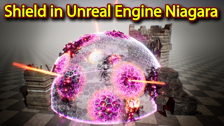 Shield Effect | Unreal Engine Niagara Tutorials | UE4 Niagara Shield