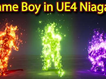 Fire character Effect | Unreal Engine Niagara Tutorials | UE4 Niagara Flame boy