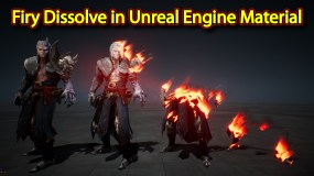 Firy Dissolve Effect in Unreal Engine Material Editor