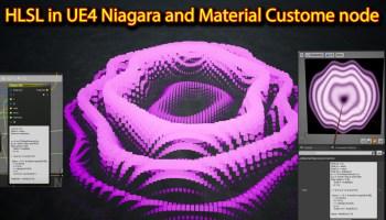 HLSL in UE4 Niagara & Material Custom node   Unreal Engine Niagara HLSL