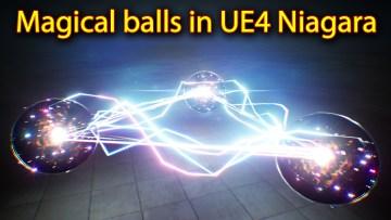 Magical Ball Effect | Unreal Engine Niagara Tutorials | UE4 Niagara Electric Ball