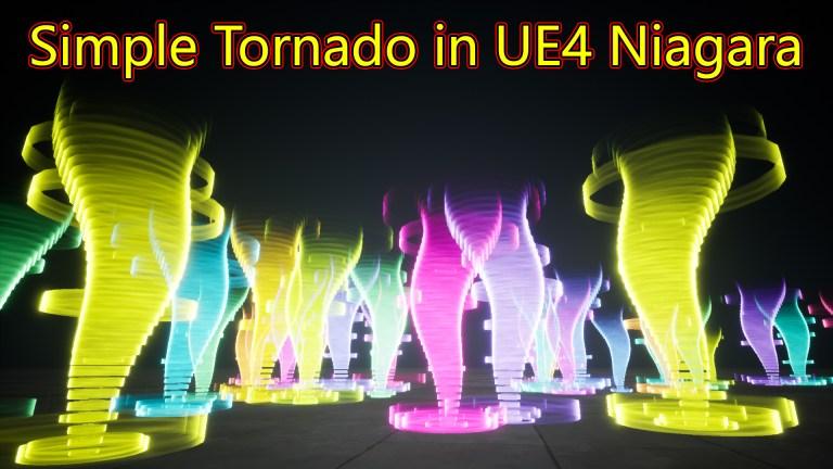 UE4 Niagara Tornado Tutorial