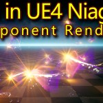 Trails in Unreal Engine Niagara Component Renderer