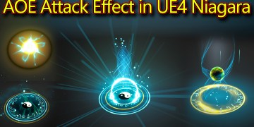 AOE Attack Effect | Unreal Engine Niagara Tutorials | UE4 Niagara AOE