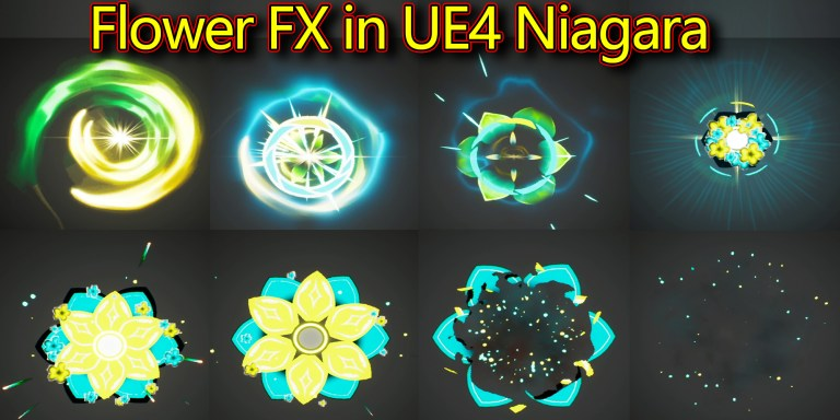 Flower Effect | Unreal Engine Niagara Tutorials | UE4 Niagara Flower Effect