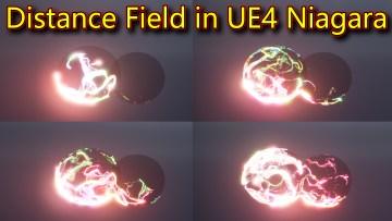 Distance Field Effect | Unreal Engine Niagara Tutorials | UE4 Niagara Distance Field