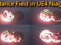 Distance Field Effect | Unreal Engine Niagara Tutorials | UE4 Niagara Distance Field