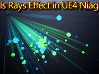 Ball Rays Effect | Unreal Engine Niagara Tutorials | UE4 Niagara Rays Effect
