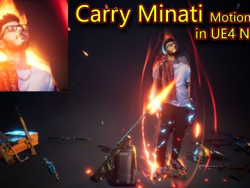 CarryMinati Motion Poster in UE4 Niagara