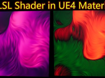 Blur HLSL Shader in UE4 Material Custom Node