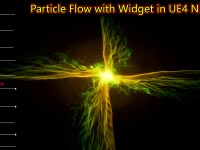 Particle Flow Effect with widget | Unreal Engine Niagara Tutorials | UE4 Niagara Particle Flow