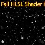 Snowfall HLSL Shader in UE4 Material Custom Node