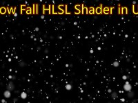 Snowfall HLSL Shader in UE4 Material Custom Node