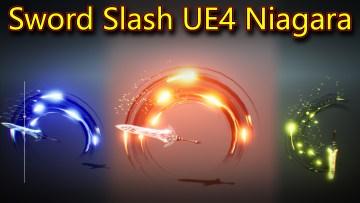 Sword Slash in UE4 Niagara Tutorial