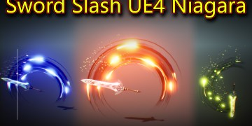 Sword Slash in UE4 Niagara Tutorial