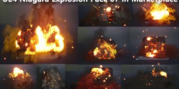 Unreal Engine Niagara Explosion Pack 07 in Marketplace