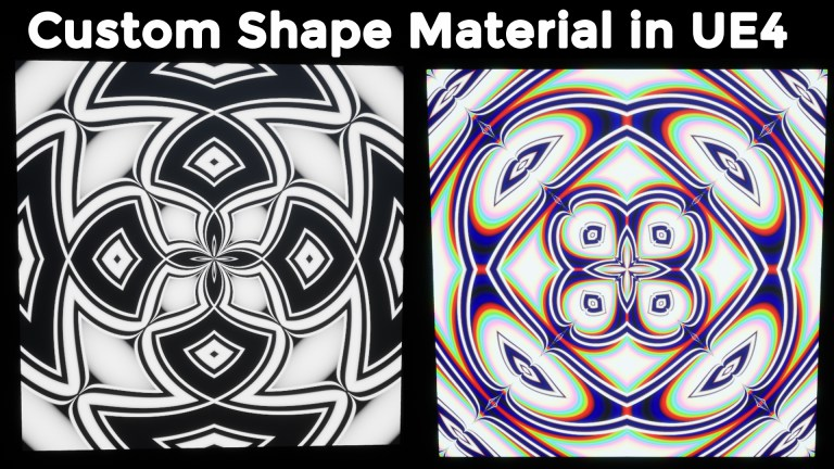 Custom Shape Material in UE4