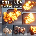 Explosion in UE4 Niagara Pack 08 in Marketplace