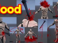 Blood Effects Pack in UE4 Niagara in Marketplace