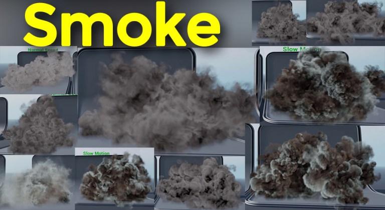 Slow Motion Smoke in UE4 Niagara Marketplace