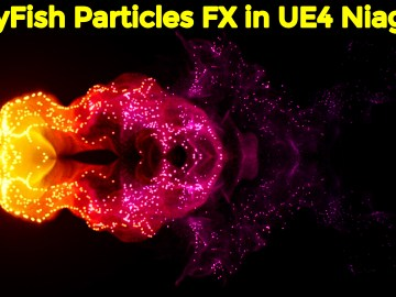 JellyFish Particles FX in UE4 Niagara | Download from Patreon