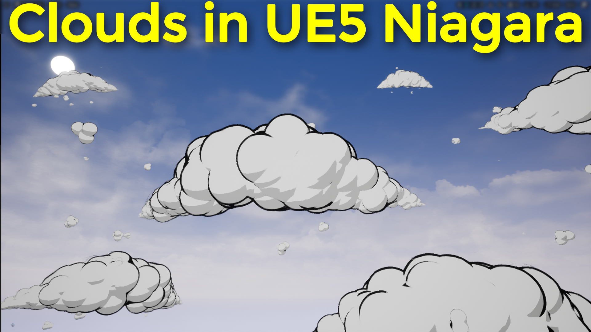 Toon Clouds in UE5 Niagara   Download Project Files