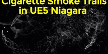 Cigarette Smoke Trails in UE5 Niagara Tutorial | Download Project Files