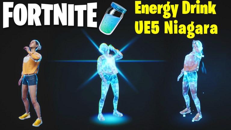 Fortnite Energy Drink FX in UE5 Niagara   Download Files