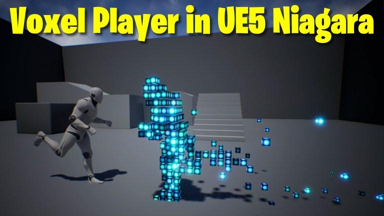 Voxel Player in UE5 Niagara Tutorial | Download Files